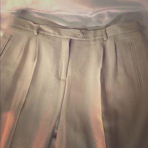 DRESS PANTS BEIGE SZ 16 ANKLE LENGTH, NYGARD